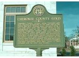 Cherokee County Gold Rush Marker