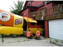 Oscar Mayer Winener Crashes Into a House