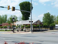 City of Acworth Train Depot and Town Clock
